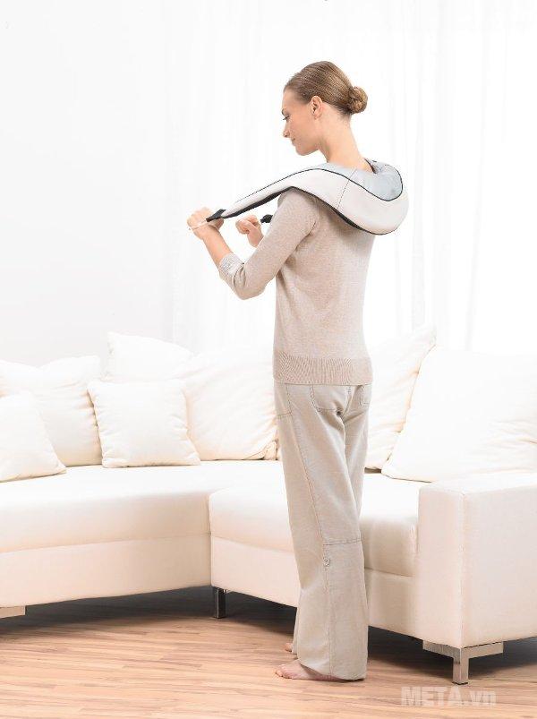 Đai massage trị đau vai, gáy, lưng Beurer MG150 có thể được điều trị với độ chính xác