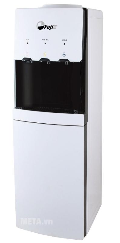 Cây nước nóng lạnh FujiE WDBD20E có màu trắng đen sang trọng.