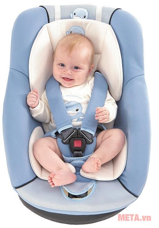 Ghế an toàn cho bé trên ô tô Kuku KU6020 màu xanh