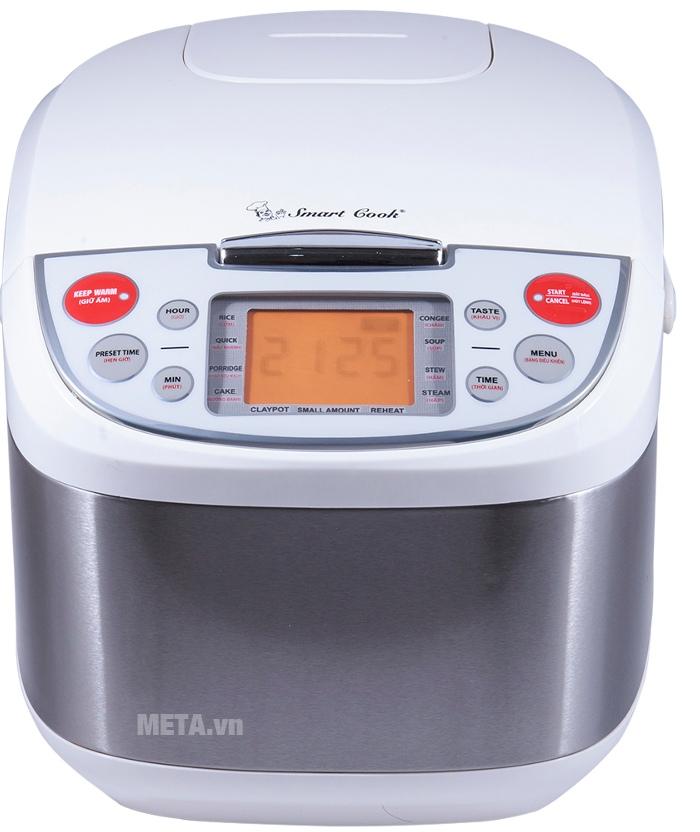 Nồi cơm điện Smartcook RCS-0025 đa dạng chức năng nấu nướng.