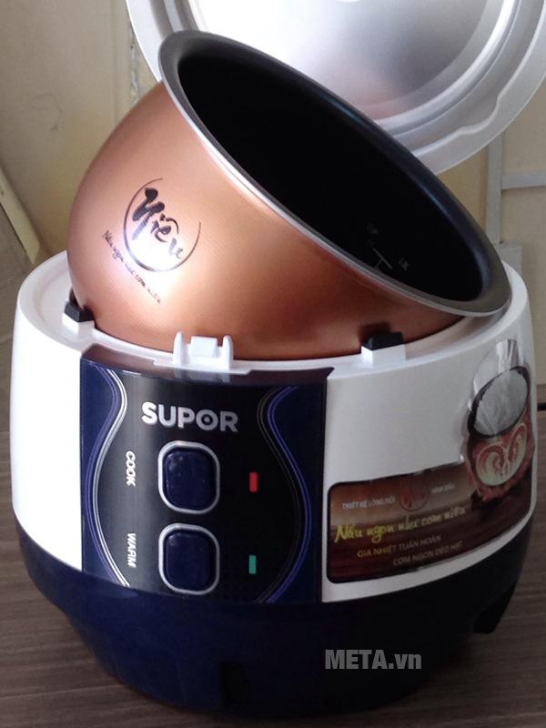 Nồi cơm điện Supor CFXB50YB13VN gia nhiệt tuần hoàn giúp cơm nấu ngon, dẻo hạt.