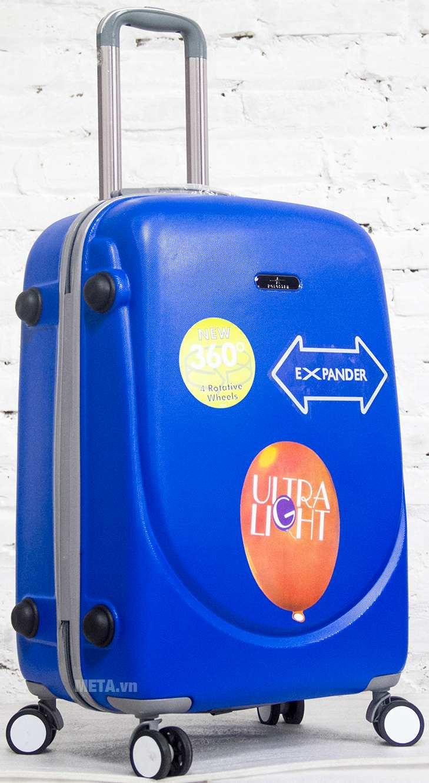 Vali nhựa ABS 360 24 inch màu xanh dương.