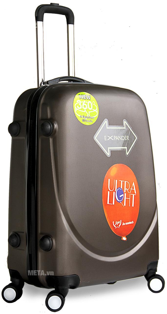 Vali nhựa ABS 360 24 inch màu nâu.