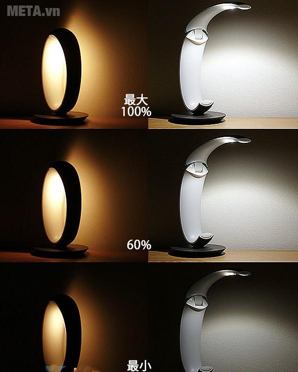 Đèn bàn Led chống cận Panasonic SQ-L530 với các chế độ sáng khác nhau.