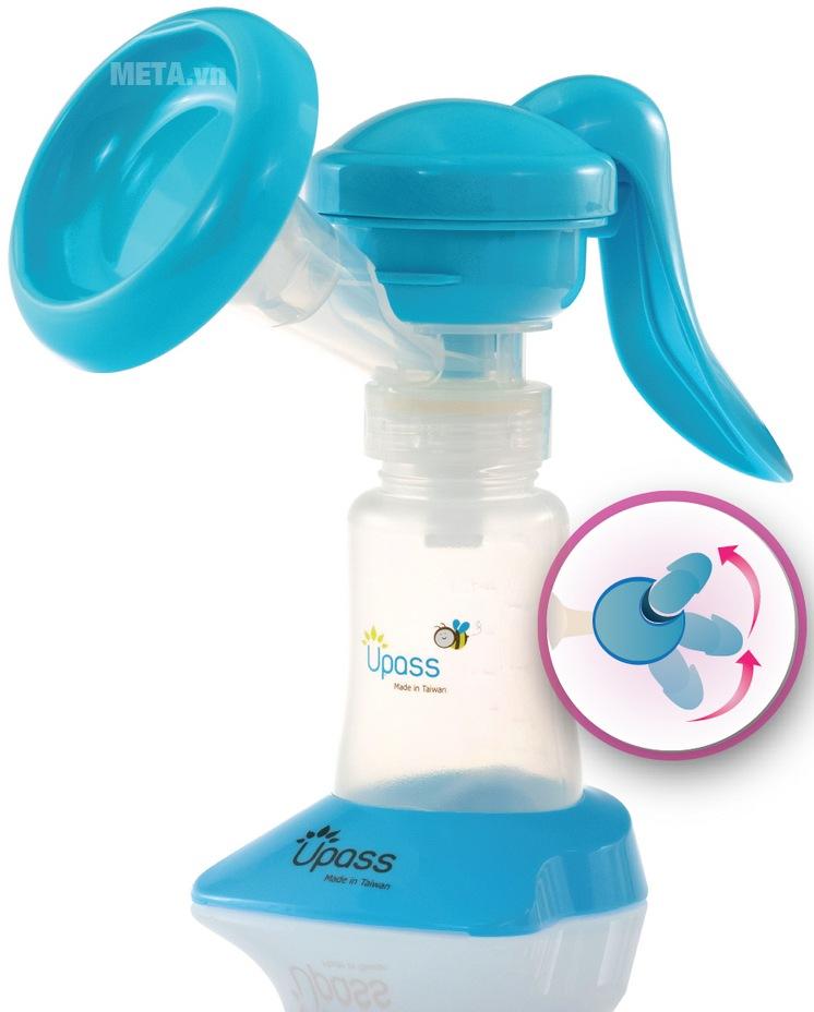 Máy hút sữa tay thông minh có mát xa silicone UP1637