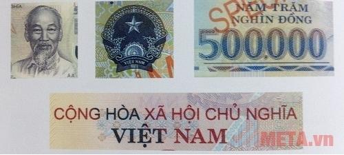 Các vị trí cần kiểm tra độ nhám ráp trên đồng tiền.