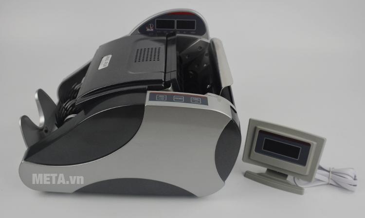 Máy đếm tiền Jingrui JR 2880 có màn hình rời cho khách hàng.