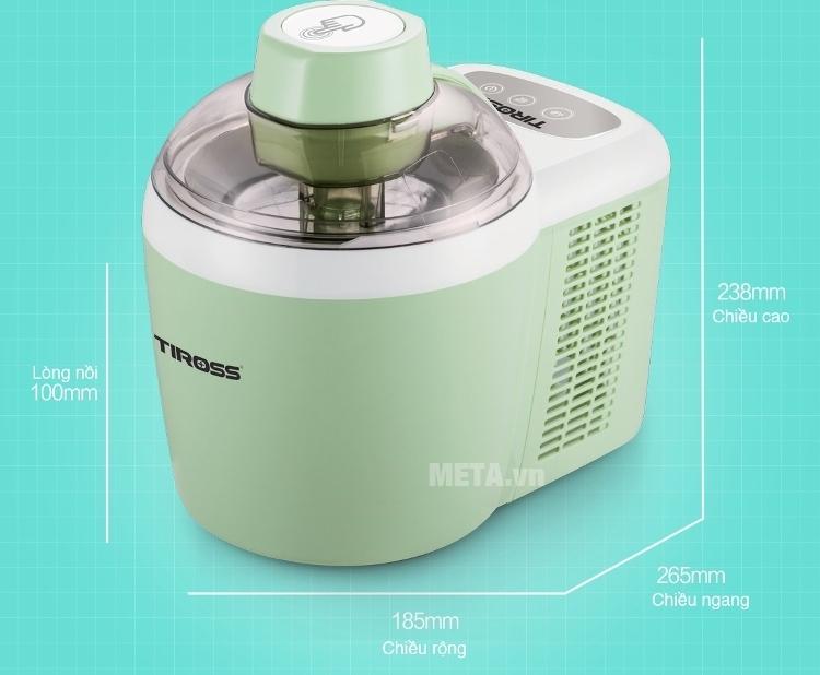 Kích thước của máy làm kem Tiross TS-9090