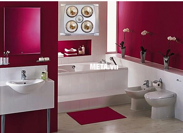 Đèn sưởi phòng tắm phải phù hợp với diện tích phòng tắm