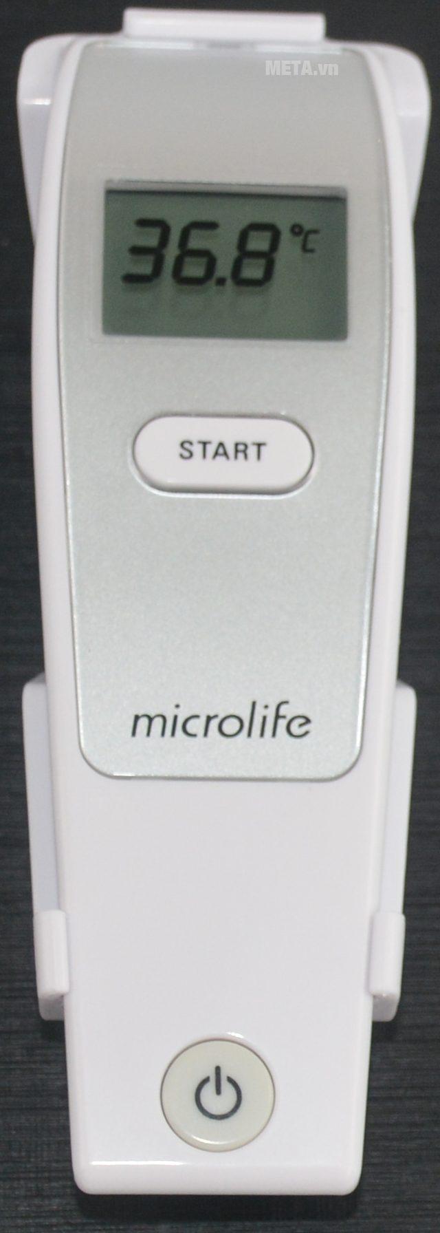 Nhiệt kế đo trán hồng ngoại Microlife FR1MF1 với thiết kế nhỏ gọn.