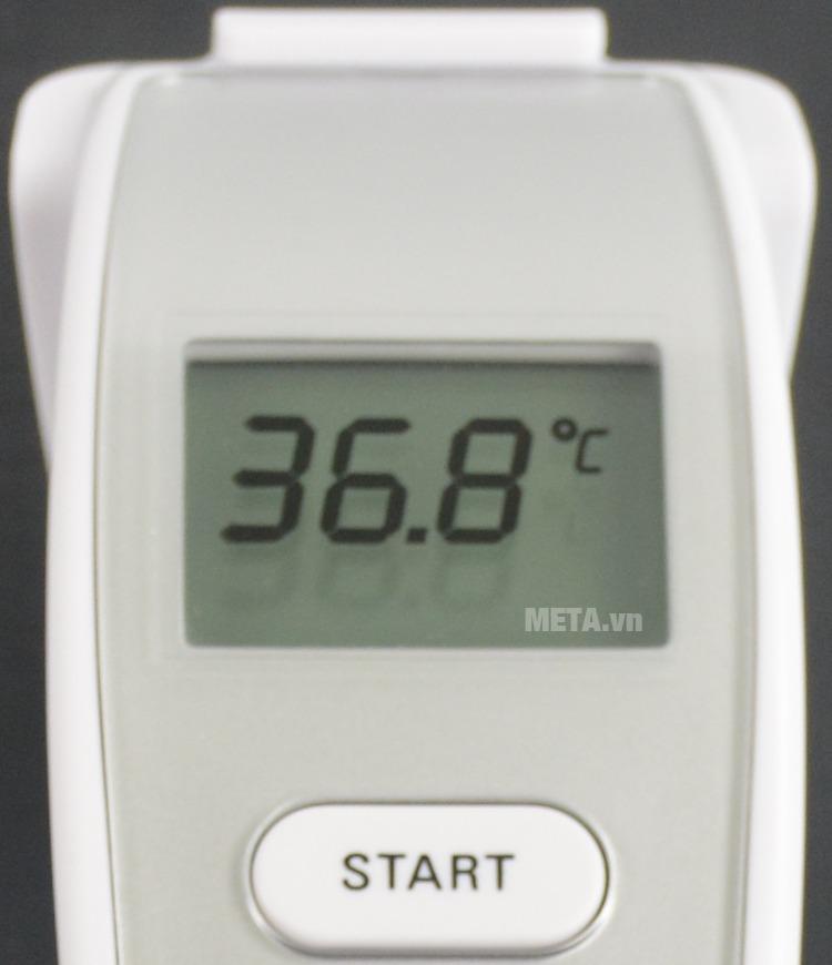 Nhiệt kế đo trán hồng ngoại Microlife FR1MF1 với thiết kế màn hình lcd chữ lớn.