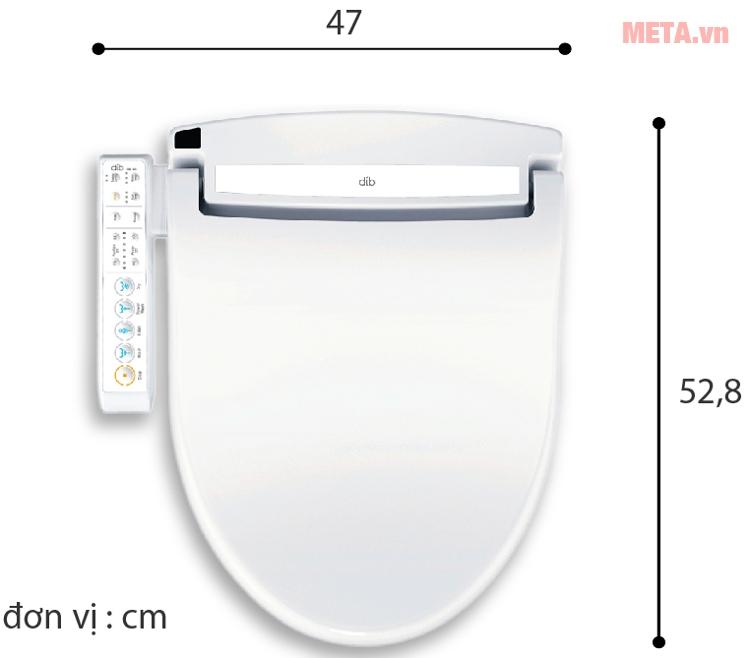 Nắp thiết bị vệ sinh điện tử thông minh Daewon DIB-100