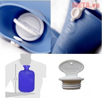 Túi chườm nóng lạnh Fashy 2 mặt với thiết kế an toàn cho người dùng.
