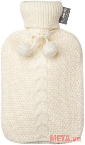 Túi chườm nóng lạnh Fashy 6700 bọc len màu trắng