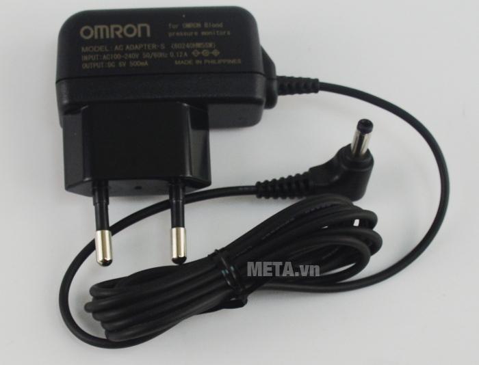 Bộ đổi nguồn dùng cho máy đo huyết áp bắp tay Omron làm bằng nhựa cao cấp.