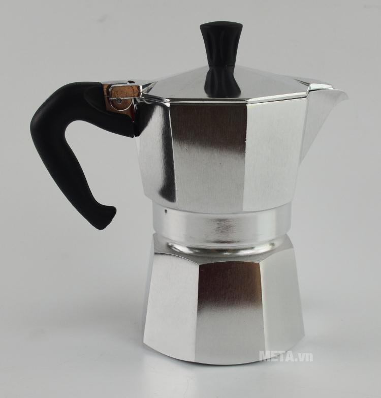 Ấm pha cà phê Bialetti Moka Express 3TZ BCM-1162 dùng được cho gia đình hay văn phòng.