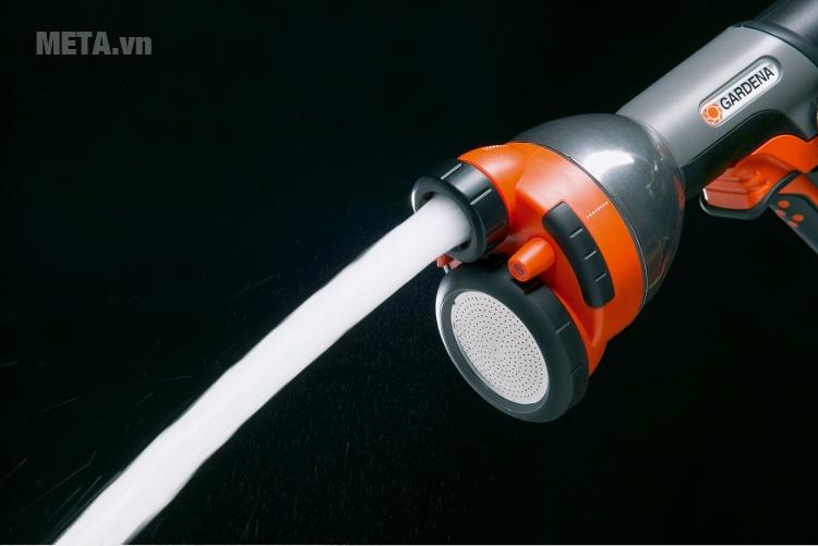 Vòi phun kim loại đa tác dụng Gardena 08107-20 với 4 chế độ phun