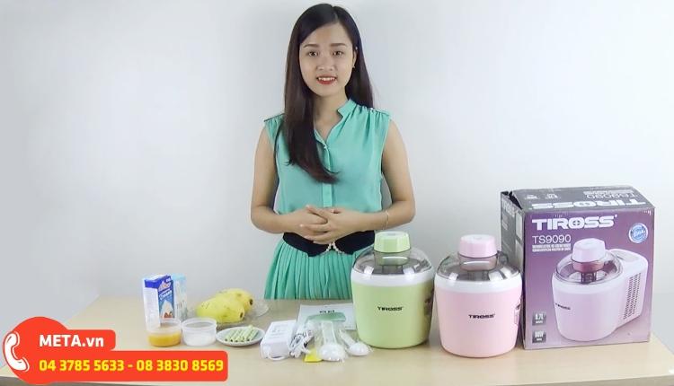Máy làm kem tươi Tiross TS-9090 giúp bạn làm ra những ly kem sạch, đảm bảo sức khỏe.