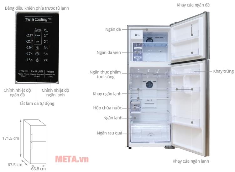 Tủ lạnh Samsung 380 lít RT38K5982SL/SV có hộp đựng nước 5 lít.