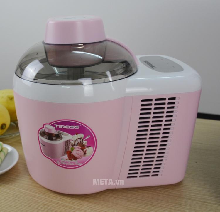 Máy làm kem Tiross Tiross TS-9090 có màu hồng xinh xắn