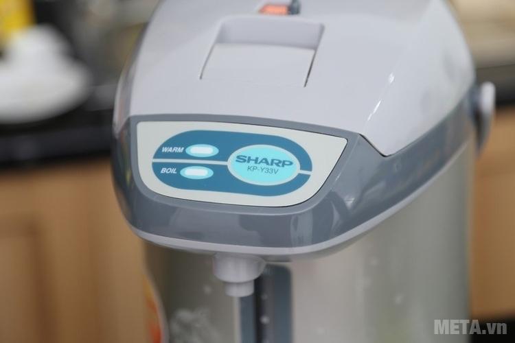 Bình thủy điện Sharp KP-Y33V có chức năng đun sôi và giữ nóng nước.