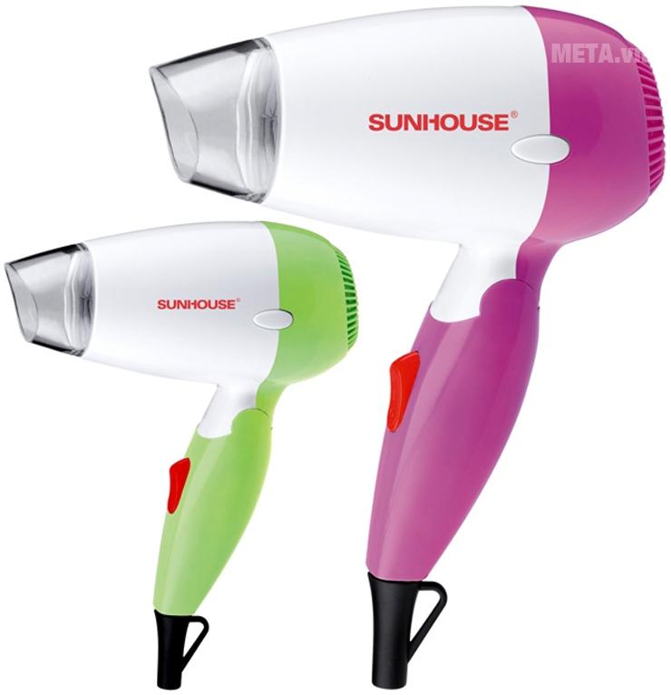 Máy sấy tóc Sunhouse SHD2301 với thiết kế 2 màu.