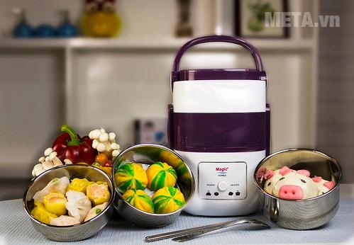 Hộp cơm hâm nóng Magic cho bạn những bữa ăn nóng hổi và chất lượng nhất.