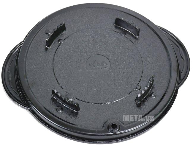 Chảo nướng chống dính Kova tròn HGR thiết kế lớp đáy dày dặn.