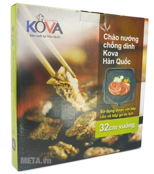 Chảo nướng chống dính Kova vuông HGS sản xuất tại Hàn Quốc.