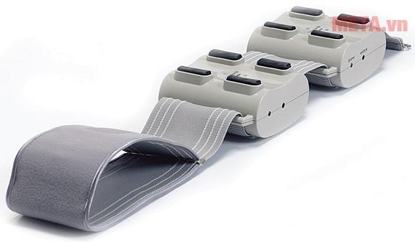 Máy massage bụng Buheung MK-207 với dải băng quấn dài.