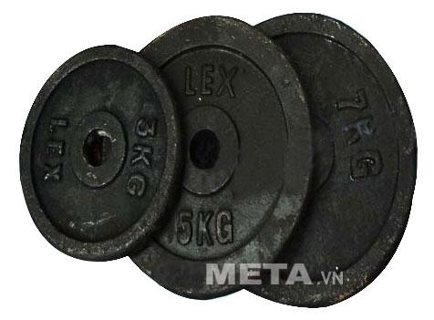 Tạ đĩa gang 5kg dùng tập đẩy tạ tại nhà.