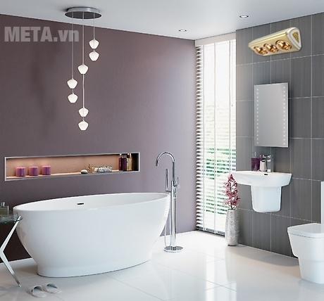 Đèn sưởi nhà tắm 3 bóng Moletty M-03HR mang lại không gian nhà tắm thật sang trọng.
