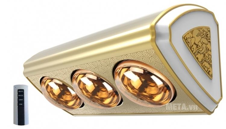 Đèn sưởi nhà tắm 3 bóng Moletty M-03HR có điều khiển từ xa
