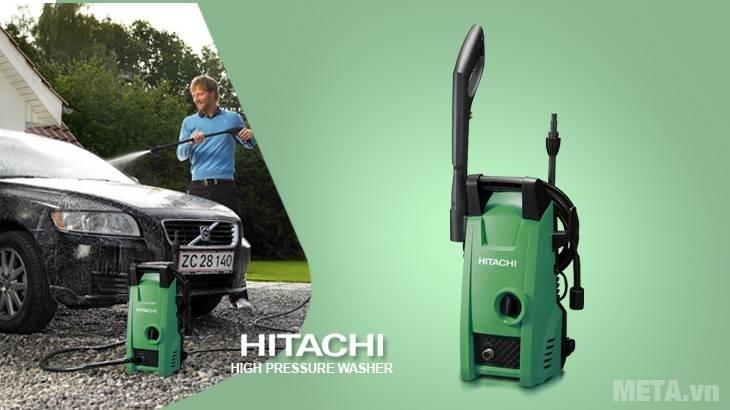 Tự tay rửa xe ô tô thật đơn giản với máy phun xịt áp lực Hitachi AW100
