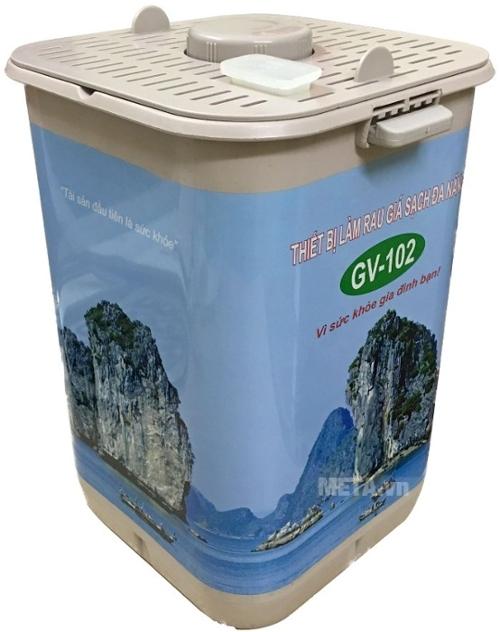 Máy làm giá sạch đa năng GV-102 - Phiên bản tự động giúp làm giá đỗ nhanh chỉ sau 3 ngày.