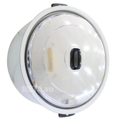 Nồi cơm điện Sharp KSH-1010V (KSH-D1010V) có núm vung bằng nhựa màu đen.