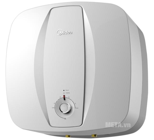 Bình nóng lạnh gián tiếp Midea D15 -25VA có phạm vi điều chỉnh nhiệt độ từ 30 - 75 độ C.