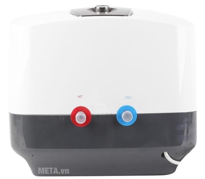 Bình nước nóng gián tiếp Midea D30-25VA1 có hai đường nước vào/ra.