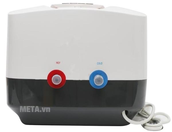 Bình nước nóng gián tiếp Midea D30-25EVA có hai đường nước riêng biệt.