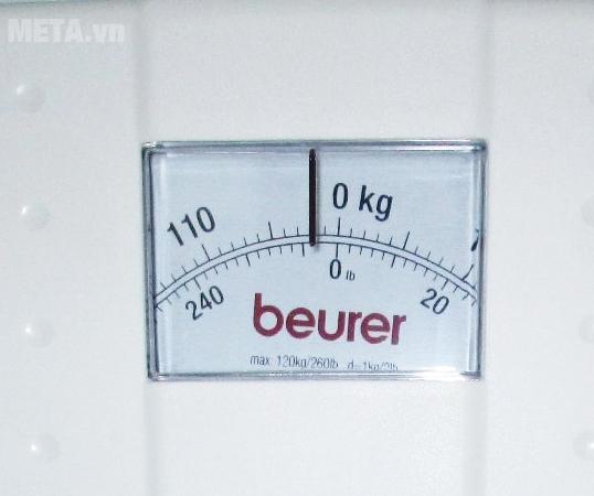 Cân cơ học Beurer MS01 với màn hình măt số cơ học dễ quan sát.