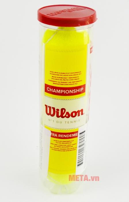Bóng tennis Wilson Championship WRT110000 dùng chơi trên mặt sân cứng.