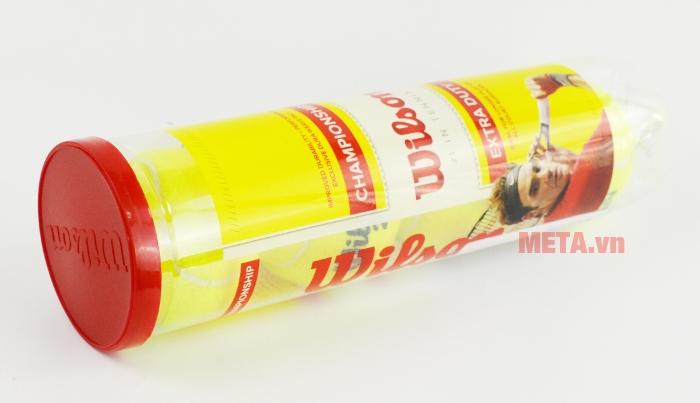 Bóng tennis Wilson Championship WRT110000 có hộp đựng bằng nhựa.