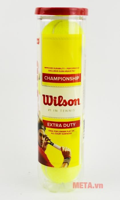 Bóng tennis Wilson Championship WRT110000 in hình Roger Federer trên vỏ hộp thật đẳng cấp.