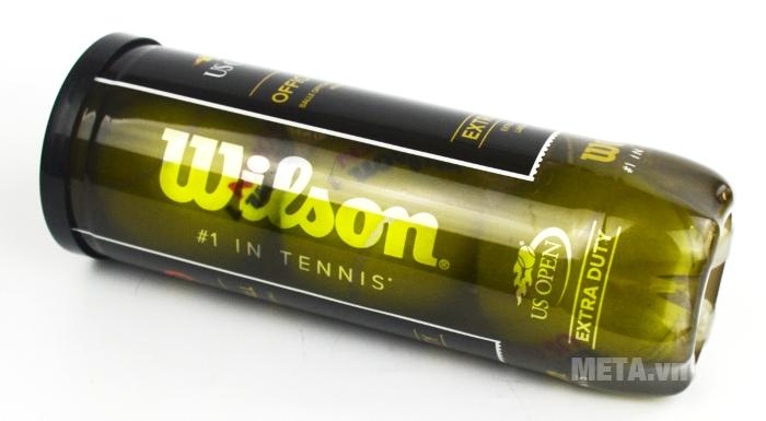 Bóng tennis Wilson Us Open thiết kế hộp đựng bằng nhựa.