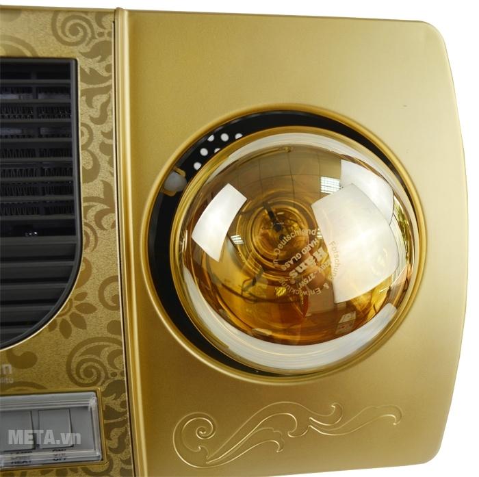 Đèn sưởi nhà tắm 2 bóng Kottmann K2B-HW-G sử dụng loại bóng sưởi siêu bền.