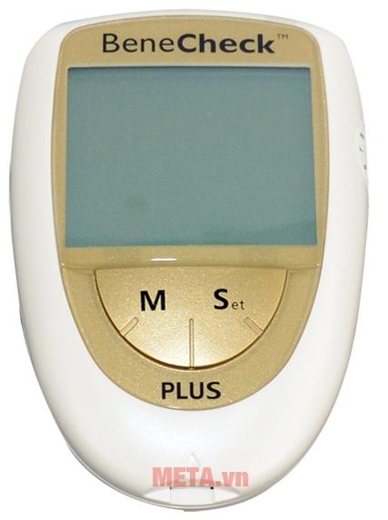 Máy đo đường huyết 3 trong 1 Benecheck Plus có màn hình LCD