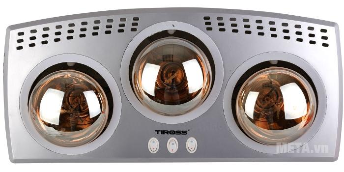 Đèn sưởi nhà tắm Tiross TS9292 làm ấm phòng tắm nhanh chóng.
