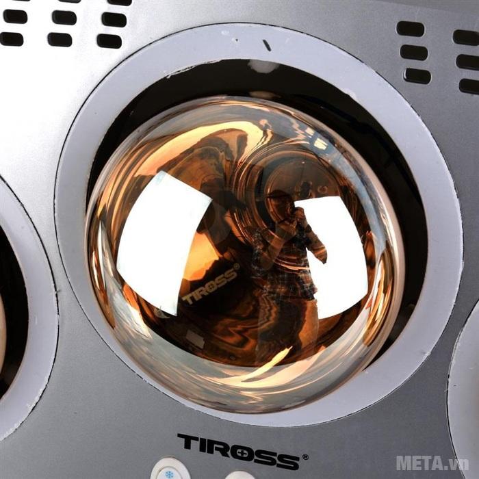 Đèn sưởi nhà tắm 3 bóng Tiross TS9292 sử dụng bóng sưởi có tuổi thọ cao.