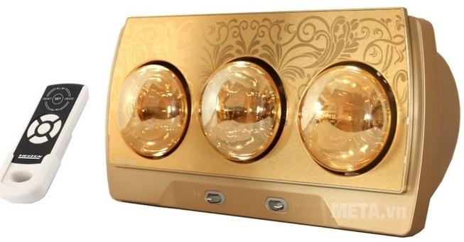 Đèn sưởi nhà tắm 3 bóng có điều khiển Heizen HE3BR sưởi ấm phòng tắm chỉ sau vài giây.