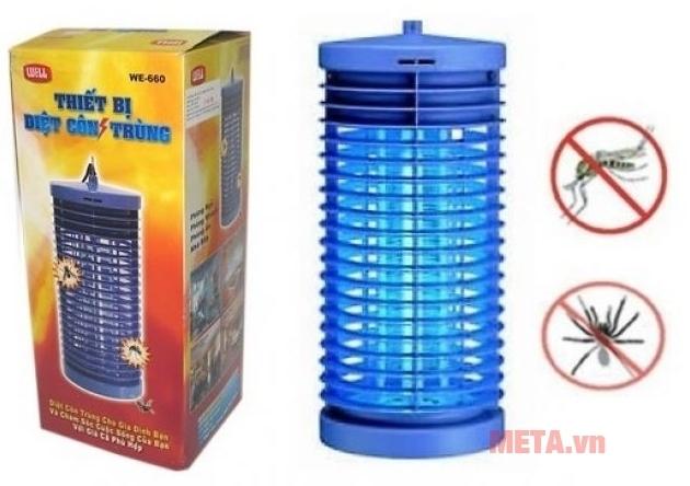 Đèn diệt côn trùng DS-D6 thích hợp đặt trong phòng phòng khách, nhà bếp, phòng ăn, phòng ngủ...